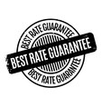 Best Rate Guarantee rubber stamp vector image vector image