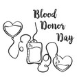 blood donor day hand draw style vector image vector image