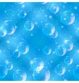 Bubbles seamless on blue vector image vector image