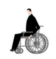businessman in wheelchair boss is disabled vector image vector image