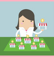 businesswoman want to expand her business vector image vector image