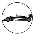 car racing black silhouette vector image vector image