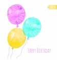 Card with colored watercolor paint balloons vector image vector image