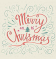 christmas typography hand drawn typography poster vector image vector image