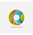 Circle or ring element logo with bold relief vector image vector image
