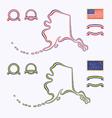 colors alaska usa vector image