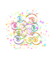 confetti and spirals vector image