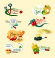 cooking emblems set vector image vector image