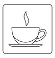 cup of tea or coffee icon outline vector image vector image