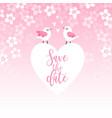 cute spring greeting card wedding invitation vector image