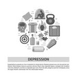 depression symptoms banner template in flat style vector image vector image