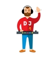 DJ Flat style colorful Cartoon vector image vector image