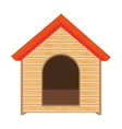 dog house of wood vector image