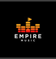 empire music logo vector image vector image