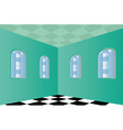 Empty Room with Green walls vector image