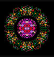 ethnic mexican tapestry with embroidery mandala vector image vector image