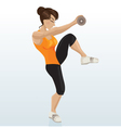 female exercising vector image vector image