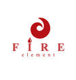 fire element abstract logo for use as petrol vector image vector image
