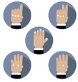 Flat Design Hand Make Number Icons vector image vector image