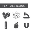 flat web icons the science vector image vector image