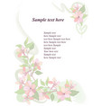 floral pattern flower background spring flourish vector image vector image