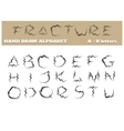 Fracture Alphabet Part One vector image vector image