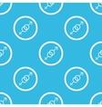 Gender sign blue pattern vector image