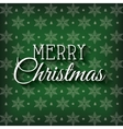 greeting merry christmas green graphic vector image