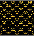 happy halloween emotion evil face seamless pattern vector image vector image