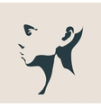 Head silhouette Face profile view vector image vector image