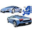 italy police car vector image vector image