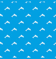 jumping dolphin pattern seamless blue vector image