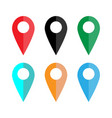map pointer icon set gps location symbol flat vector image