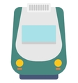 Modern high speed train vector image