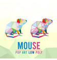 mouse rat animal pet chinese zodiac shio year pop vector image