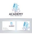 music academy logo design vector image vector image