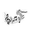 music melody notes on wave musical concert vector image