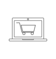 Online shopping linear icon vector image vector image