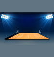 phone on basketball arena field with bright vector image vector image