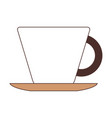 porcelain cup on dish silhouette color section on vector image vector image