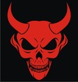 Red Devils Head vector image vector image
