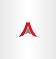 red letter a arrow logo vector image vector image