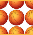 seamless pattern tile cartoon with basketballs vector image