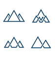set mountains logo logo in line style vector image vector image
