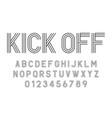 Set of alphabets fonts modern abstract design