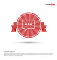 speech bubble icon - red ribbon banner vector image vector image