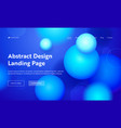 sphere abstract motion landing page background vector image vector image