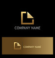 square line gold business logo vector image vector image