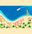 summer ocean beach vacation top view vector image