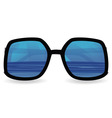 sun glasses with sea reflexion vector image